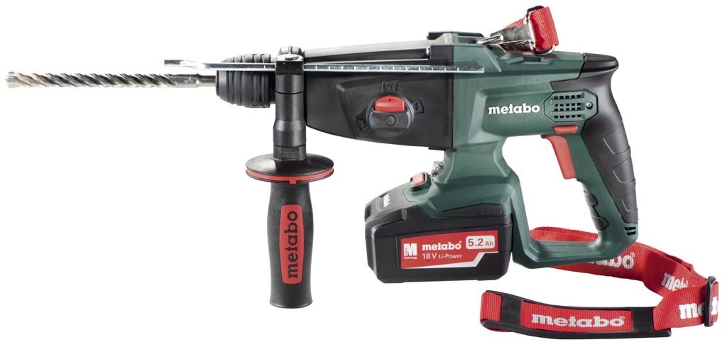 Metabo marteau perforateur sans fil kha 18 ltx 2 x 5 2 ah for Perforateur sans fil metabo