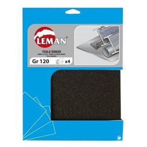 lot de 4 feuilles de papier abrasif toile meri leman te de 00 05 kity vente. Black Bedroom Furniture Sets. Home Design Ideas