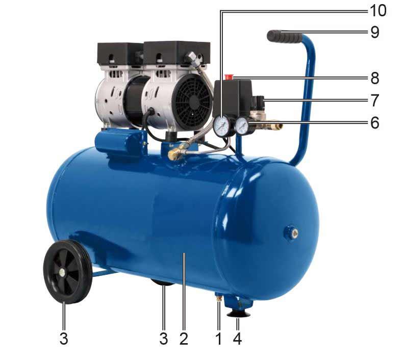 Accessoires et équipement compresseur HC50Si Scheppach