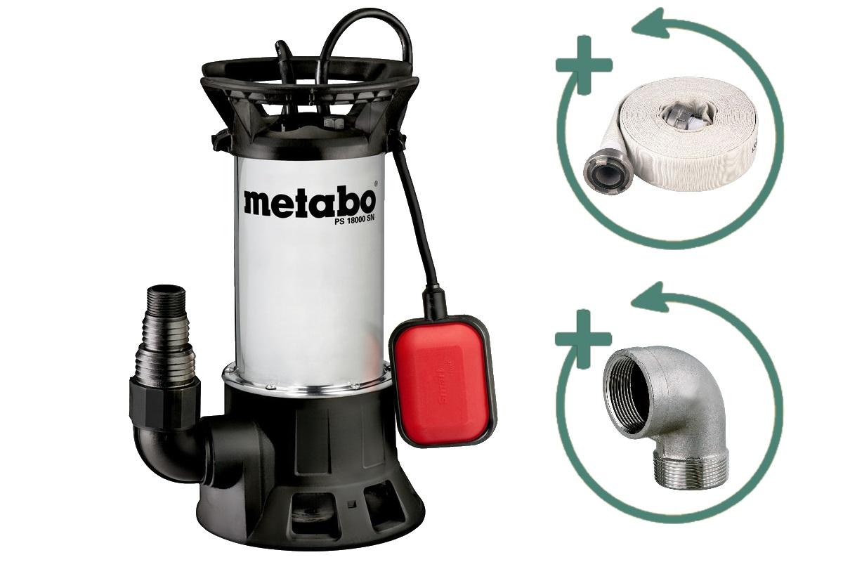 metabo pompe immerg e pour eaux us es ps 18000 sn. Black Bedroom Furniture Sets. Home Design Ideas
